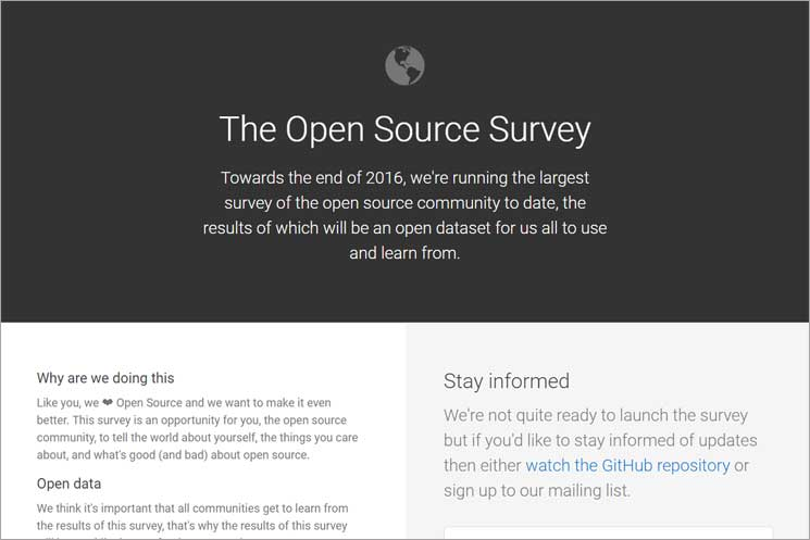 『Open Source Survey』のWebサイト