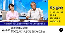 【vol.1-2】 藤原和博が解説!「100万人に1人」の存在になる方法