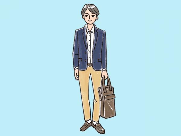 男性の服装(ビジネスカジュアル)