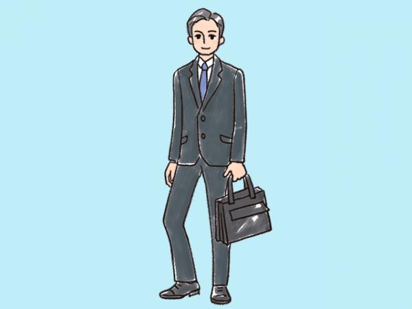 男性の服装(スーツ)