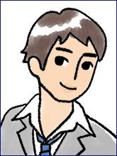 履歴書の写真(男性NG例3)