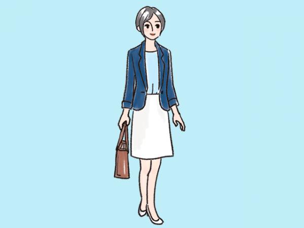 女性の服装(ビジネスカジュアル)