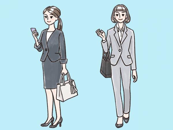 女性の服装(スーツ)